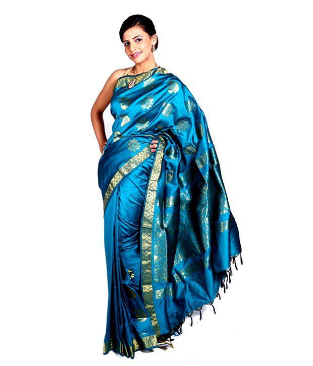 Vida Art Silk Saree - Blue