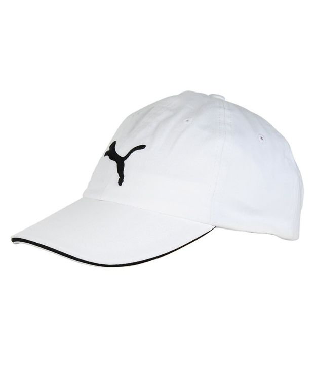 Puma White and Black Unisex Cap - Buy Online   Rs.  59924eba8ec