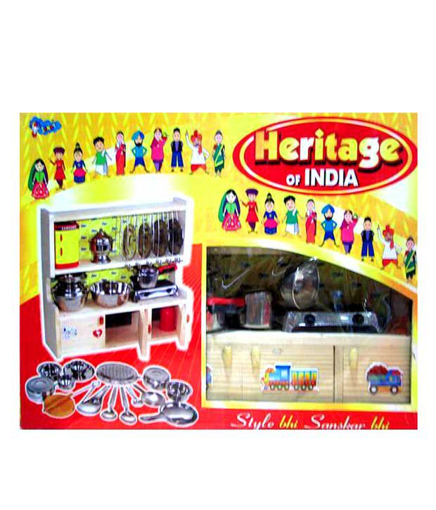 Sunny Toys Heritage Of India Steel Kitchen Set