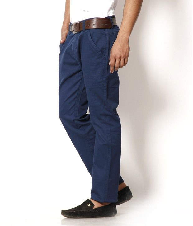 DesignRoadies Fashionable Blue Chinos
