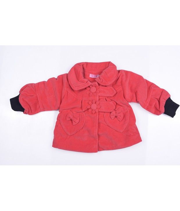 Isabelle Fuschia Hooded Jackets For Kids