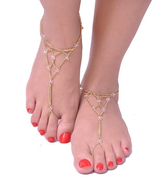 Trinketbag White Webby Toe Anklet