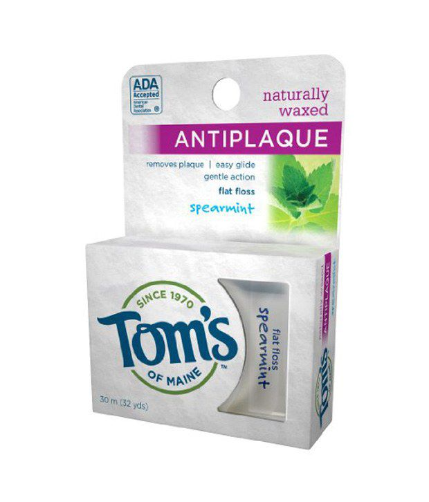 Tom S Of Maine Naturally Waxed Antiplaque Flat Floss