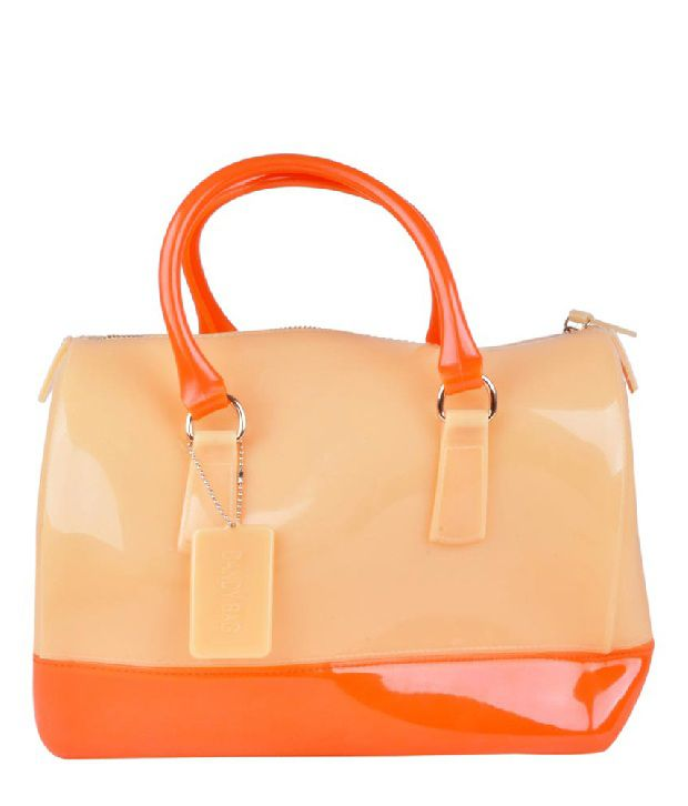 H.M HB1641-Peach Satchel Bag