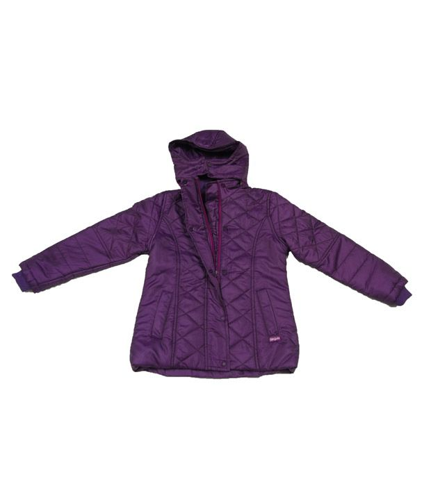 Sportking Purple Hooded Jacket For Kids