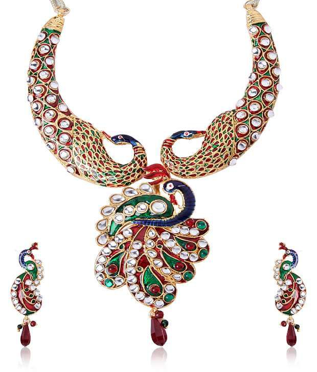 Shinning Diva Traditional Mayur Necklace and set
