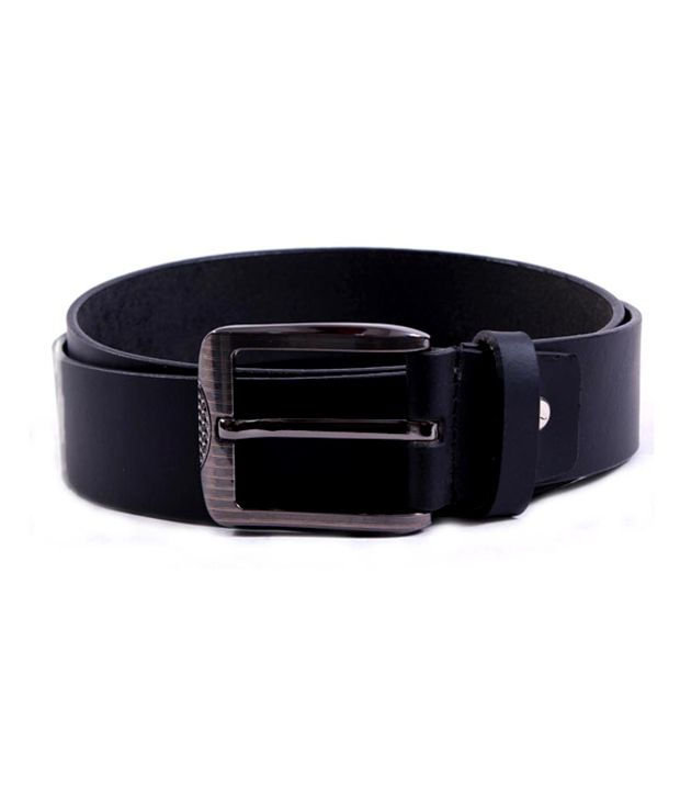 Pacific Gold Appealing Black Leather Belt