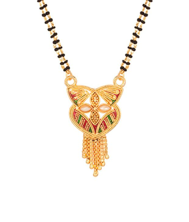 Voylla Gold Toned Mangalsutra With Unique Design