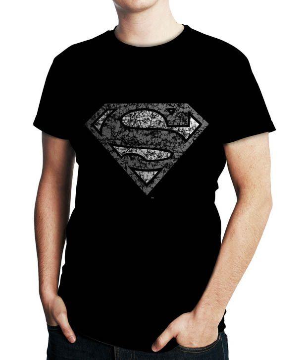 WK Black Super Man T Shirt