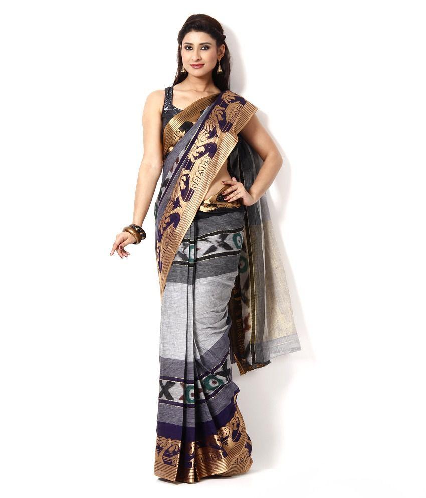Sanchari Multi Color Cotton Bengal Tant Saree