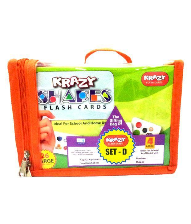 d09d6f1c3 Krazy Shapes Flash Cards Set- D - Buy Krazy Shapes Flash Cards Set- D Online  at Low Price - Snapdeal