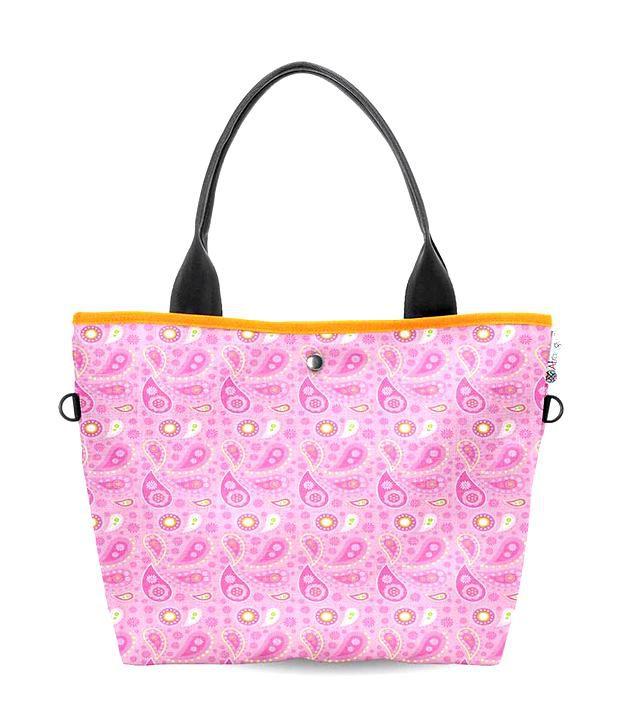 Atrangee Wide Pink Tote Bag