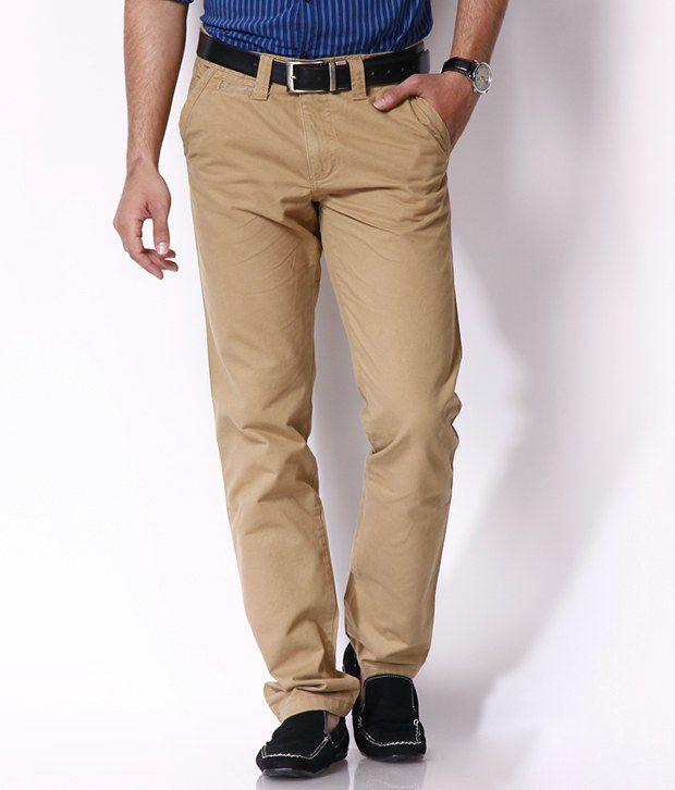 Highlander Khaki Casual Trouser