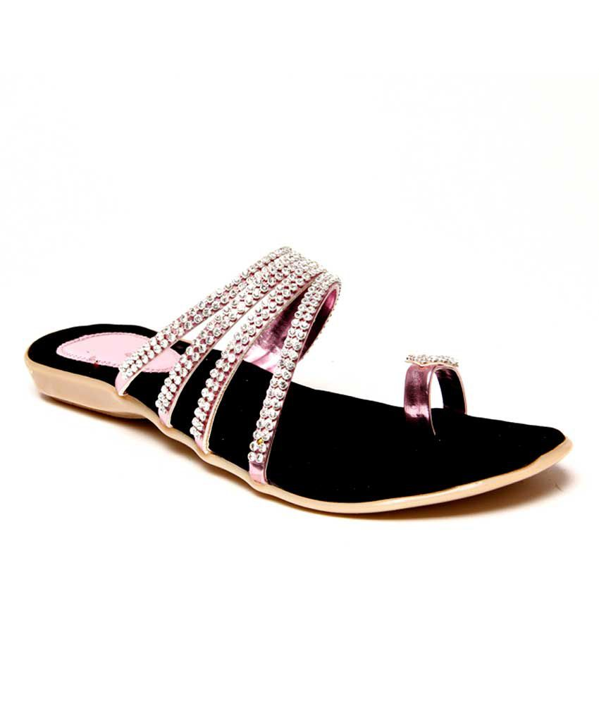 Flat Fancy Chappal Pink Price in India