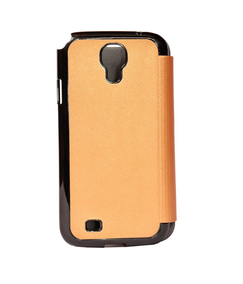 new style 3cb53 aacb4 Mobig Samsung S4 Flip Cover Gold Black