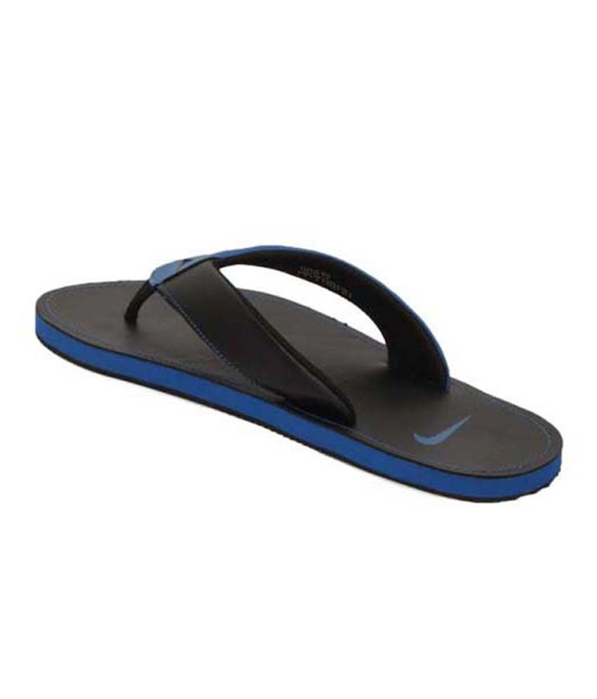 official photos f3417 434c6 Nike Chroma Thong II Blue & Black Mens Slippers Price in ...