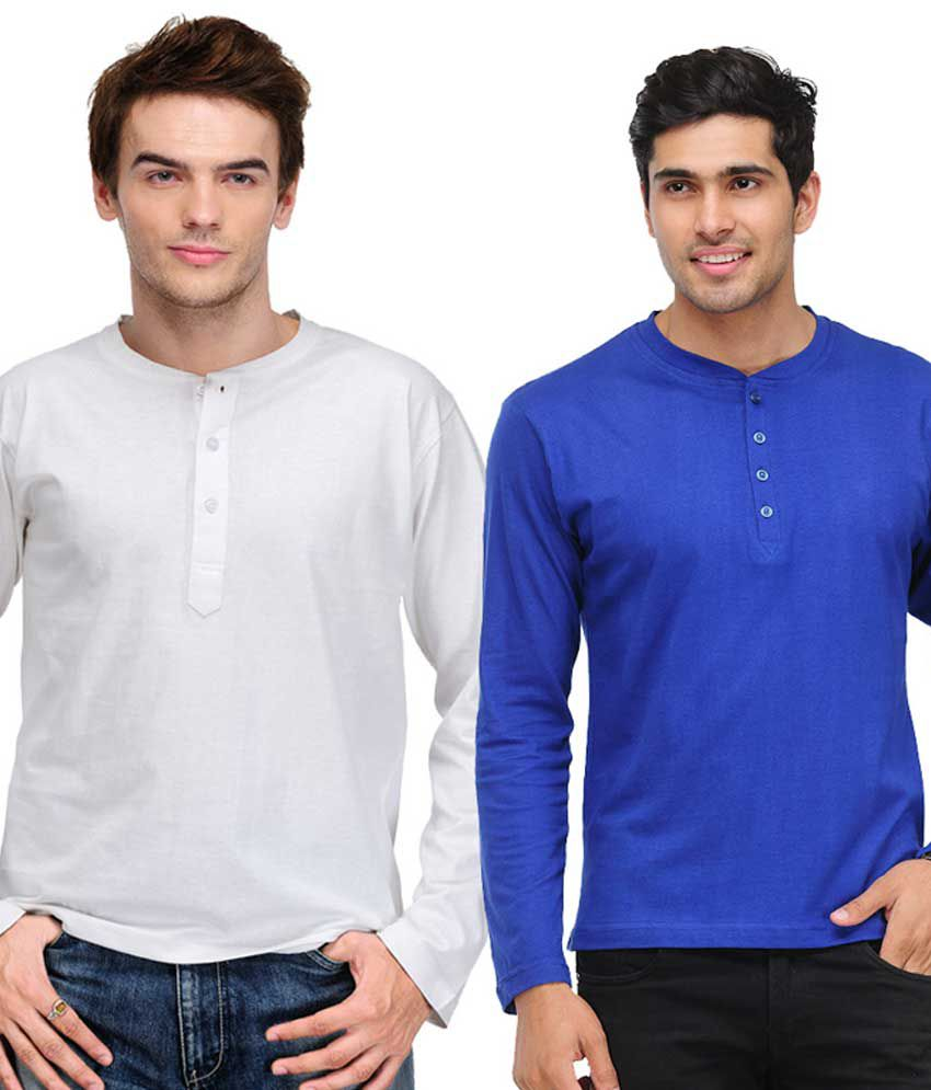 TSX Blue & White Full Sleeves T-Shirts Pack of 2