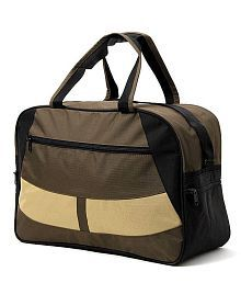 WalletsnBags Military Green & Beige Duffle Bag
