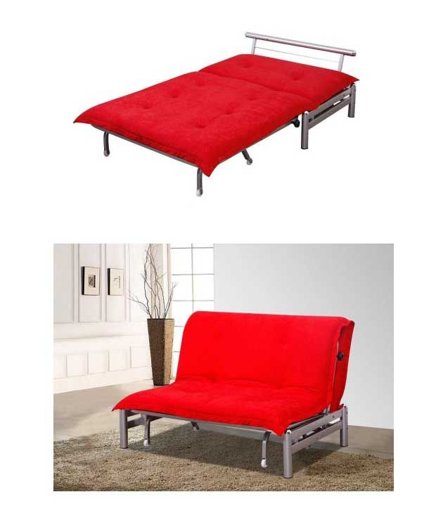Godrej Brussels Plus Sofa Bed Red Buy Godrej Brussels