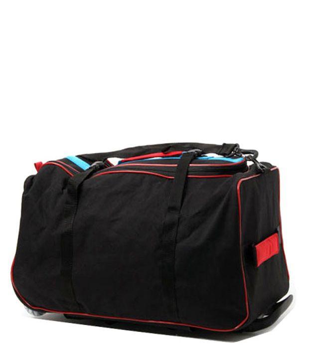 WalletsnBags Stylish Black Trolley Luggage
