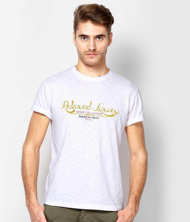 American Swan Hermosa White T Shirt