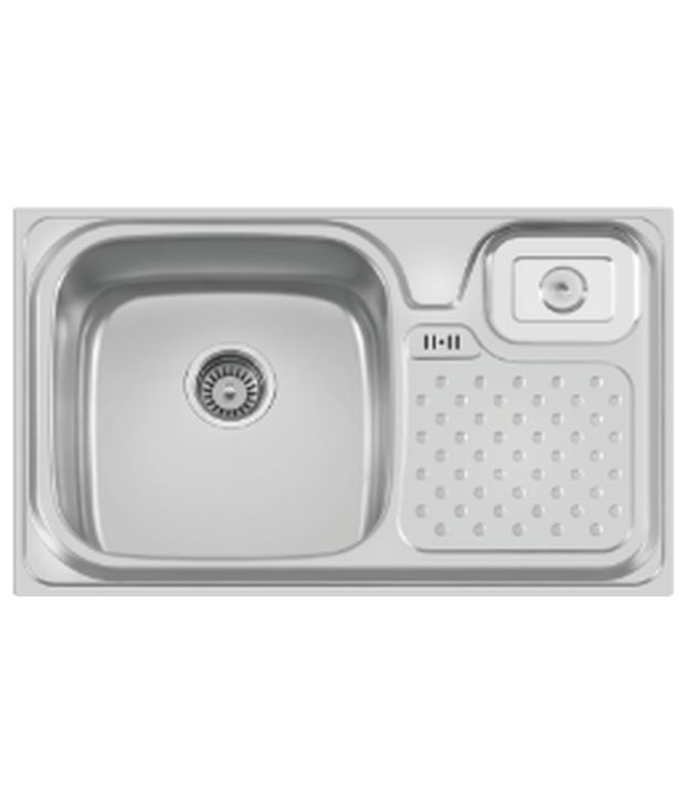 Cera Single Bowl Sink With Drain Board And Waste Bin Cksp