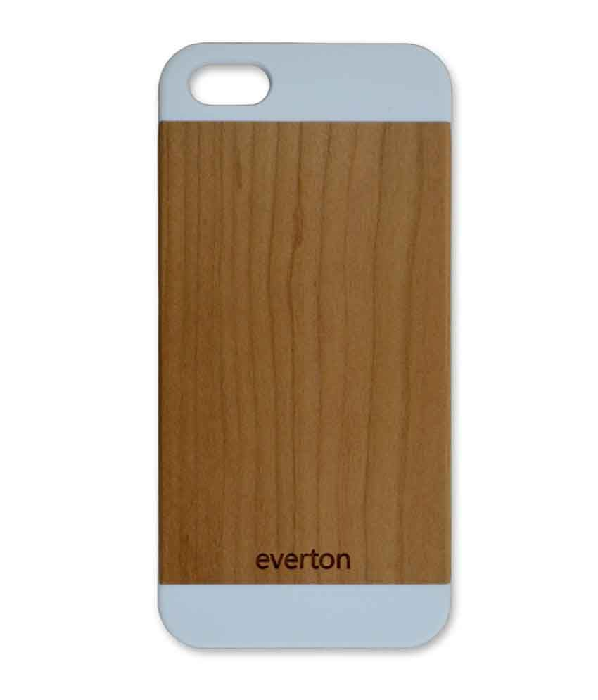 quality design 945e2 5210b Everton Back Cover Case for Apple iPhone 5/5S Wooden Case Classic ...