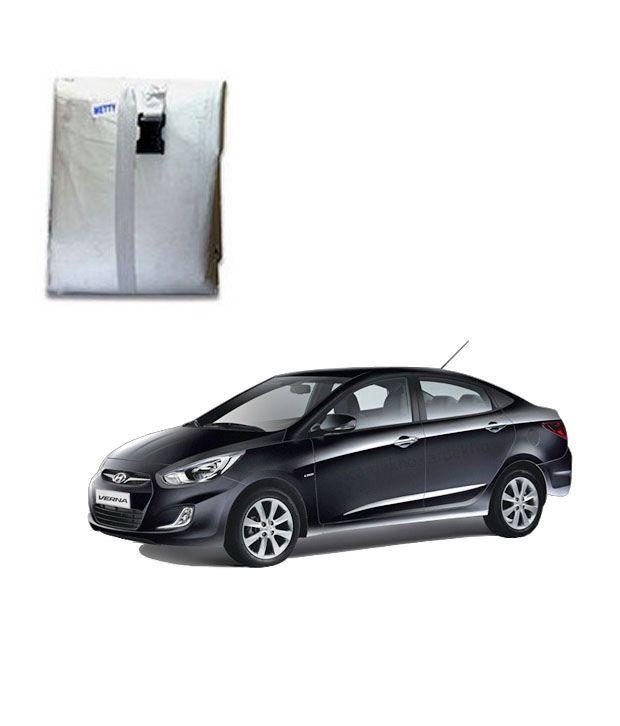 faithos car body cover premium silver matty hyundai verna buy faithos car body cover. Black Bedroom Furniture Sets. Home Design Ideas