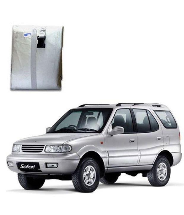 faithos car body cover premium silver matty tata safari buy faithos car body cover. Black Bedroom Furniture Sets. Home Design Ideas