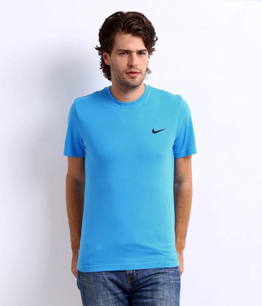 Nike Blue Cotton T shirt