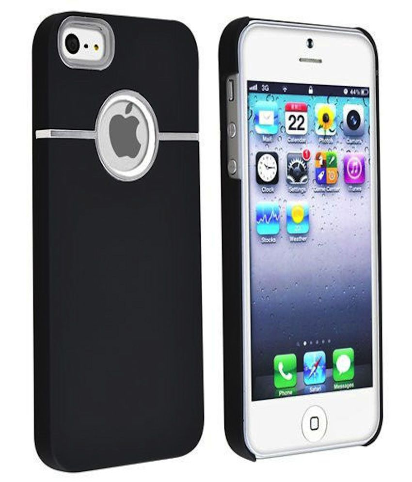iphone 5s back cover rka deluxe w chrome rubberized snapon back cover 14740