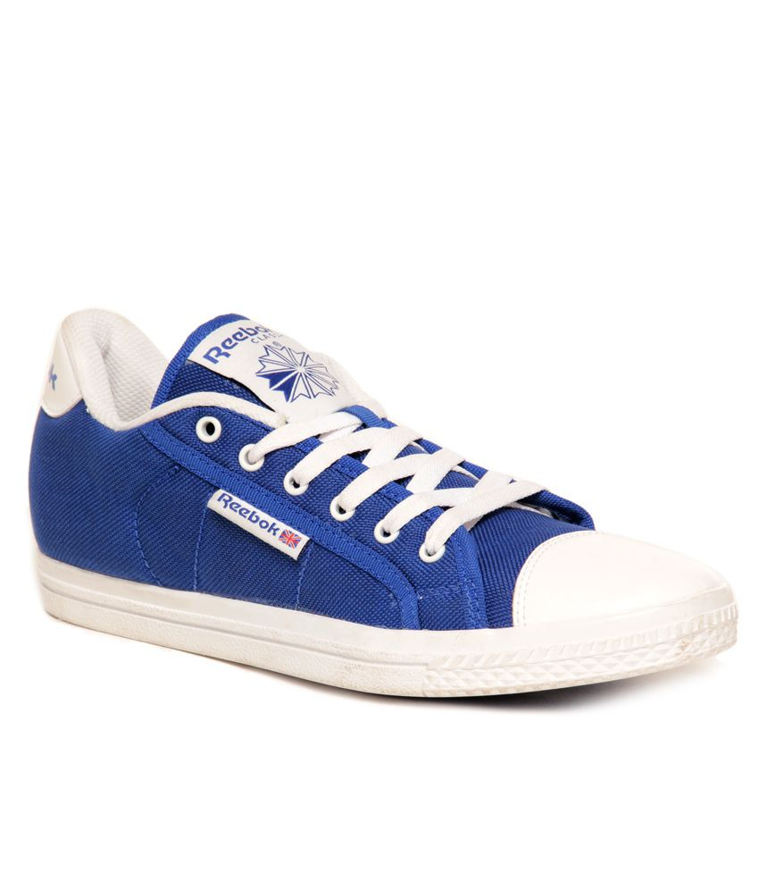 reebok on court v lp royal blue white canvas shoes price
