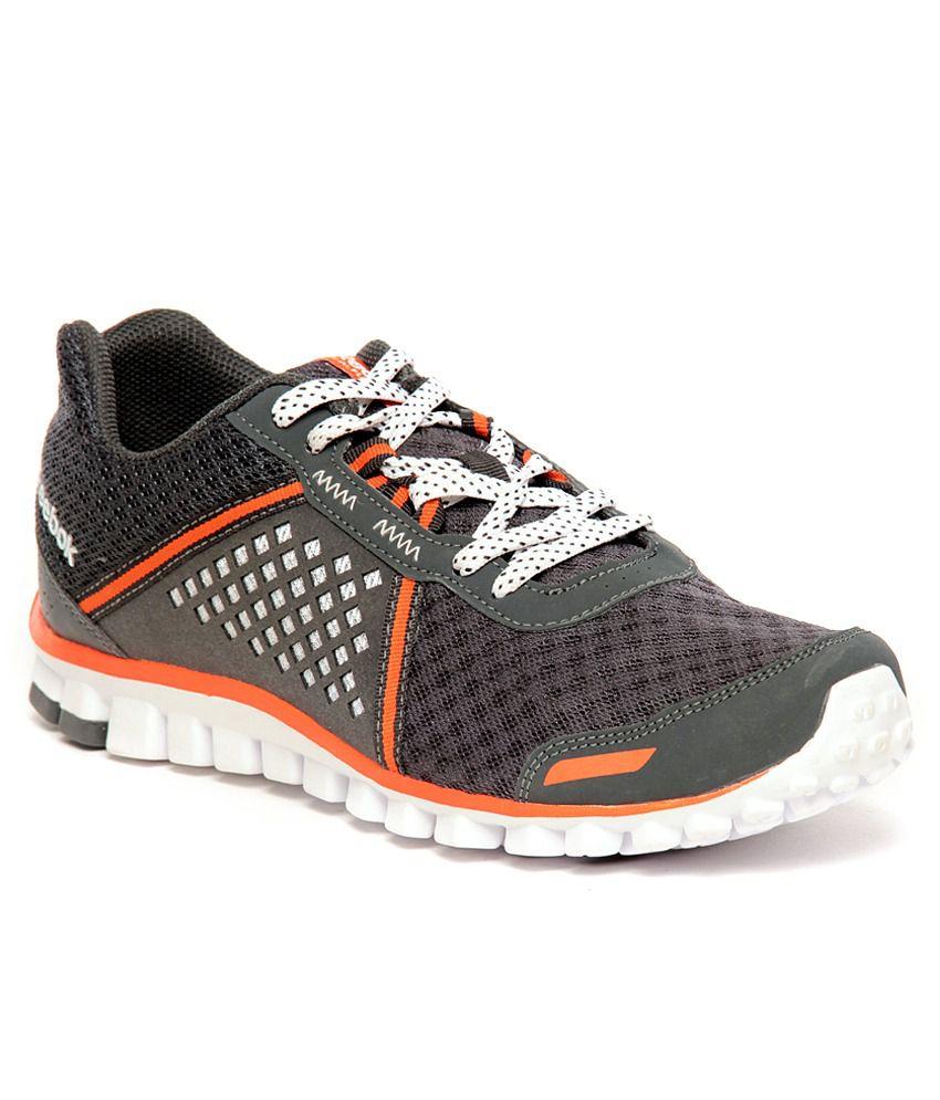 hot sale online 06044 915e0 Reebok RealFlex Scream 4.0 Grey   Orange Running Shoes ...