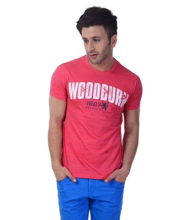 Sportking Light Coral Woodburn Printed T Shirt