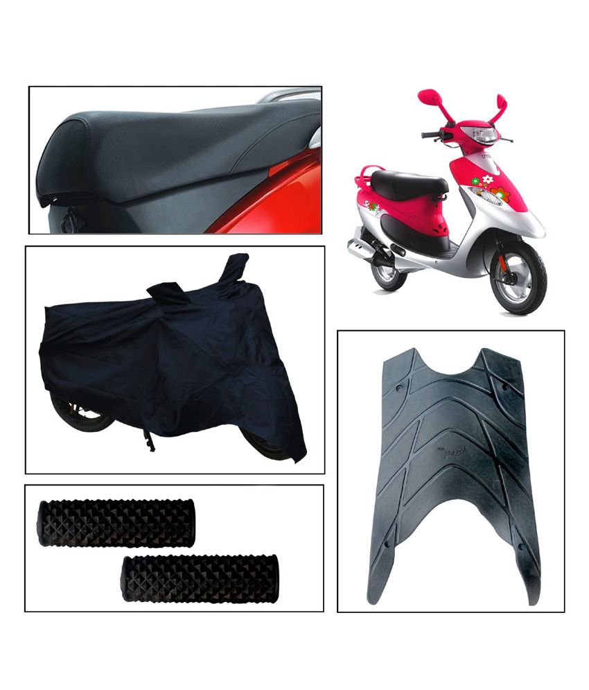 Phenomenal Vheelocityin Tvs Scooty Pep And Seat Cover And Body Cover And Foot Mat And Free Accupressure Grip Alphanode Cool Chair Designs And Ideas Alphanodeonline