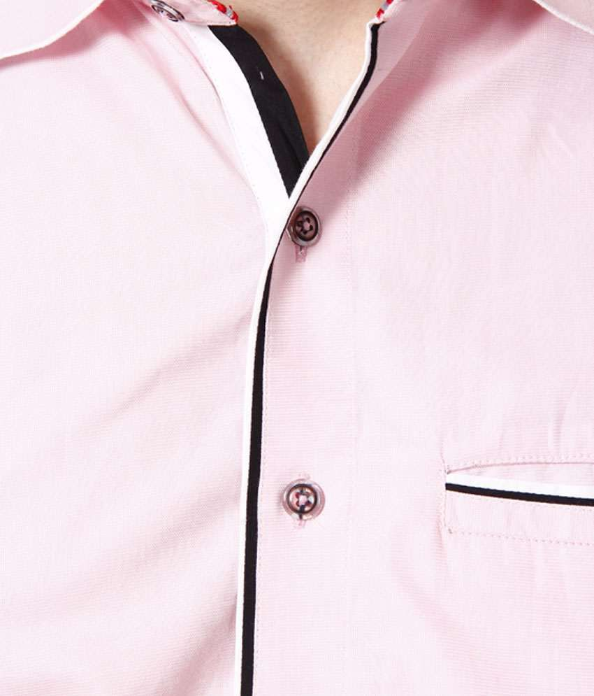 Bendiesel Casual Shirt Light Pink Double Colour Matching - Buy ...