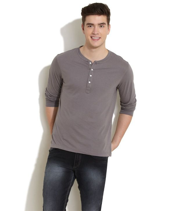 78ba1701b82 Freecultr Full Sleeves Round Neck Henley T-Shirt - Buy Freecultr Full  Sleeves Round Neck Henley T-Shirt Online at Low Price - Snapdeal.com