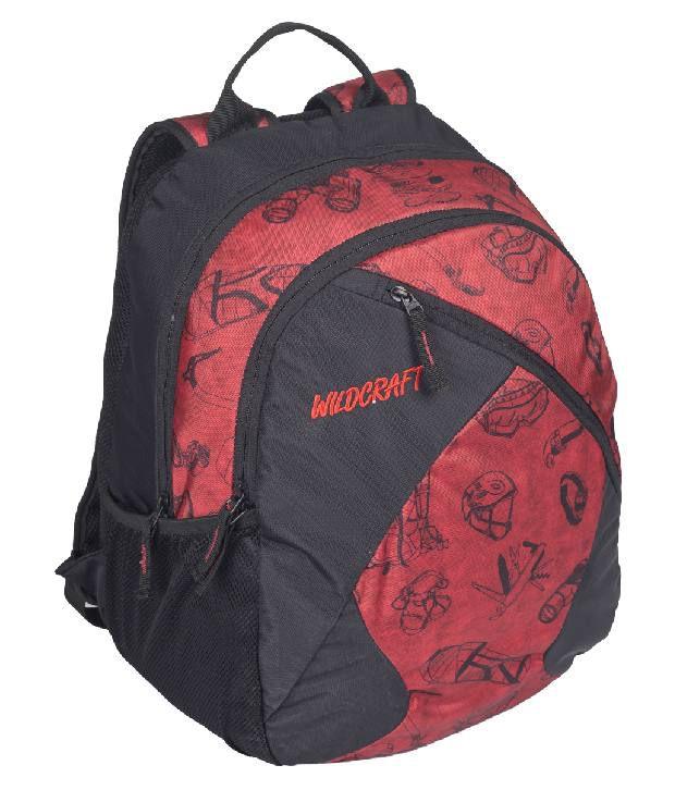 1be1d8ba8cbc Wlidcraft Stride EQ Red School Bag - Buy Wlidcraft Stride EQ Red ...
