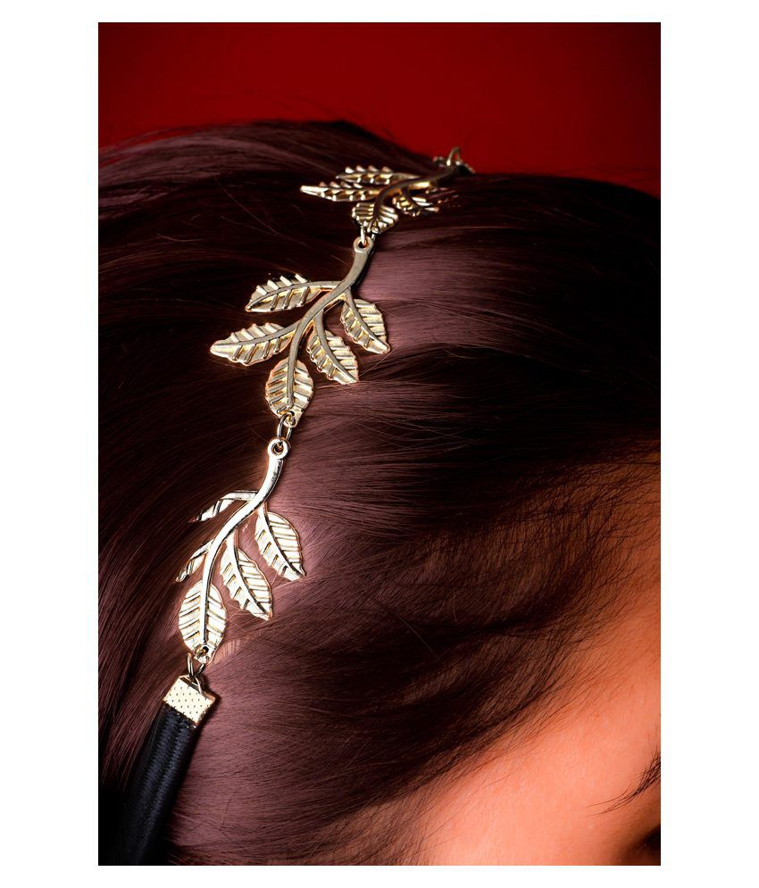 Hair accessories online snapdeal -  20d Roman Princess Leaf Hairband