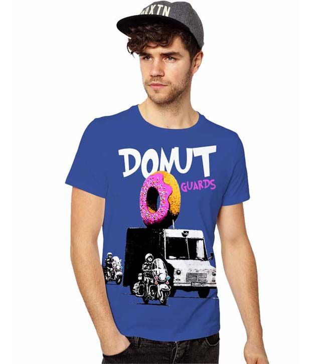 Good Karma Blue Printed T Shirt