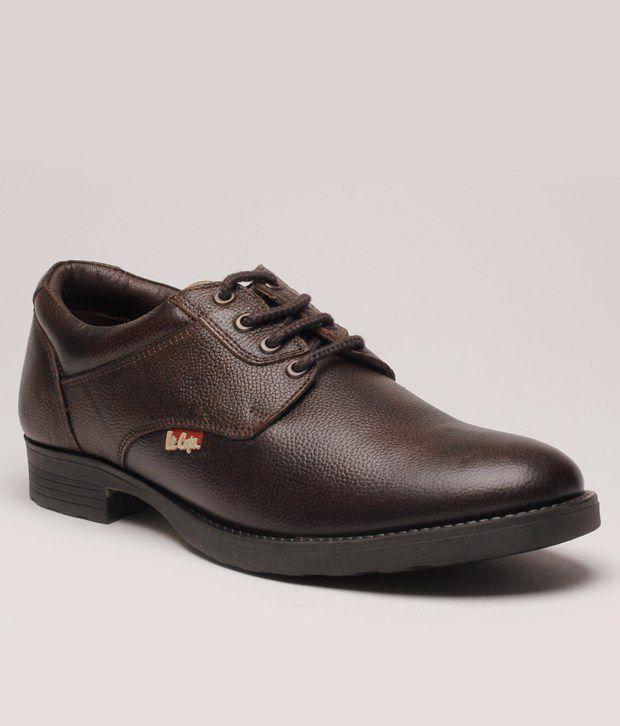 Buy Lee Cooper Brown Formal Shoes Art