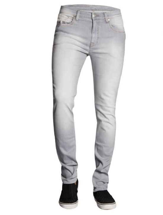 Lee Gray Faded Cotton Lycra Jeans