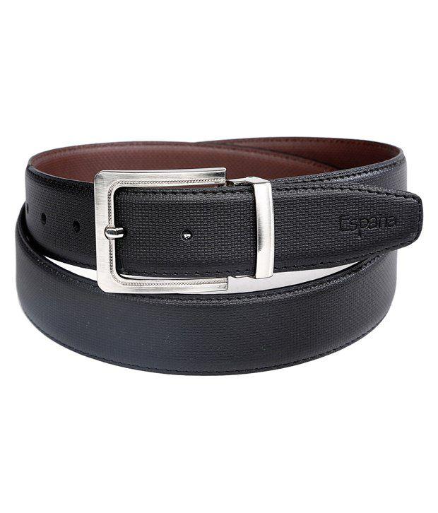 Milano X'xssories Black & Brown Formal Reversible Belt