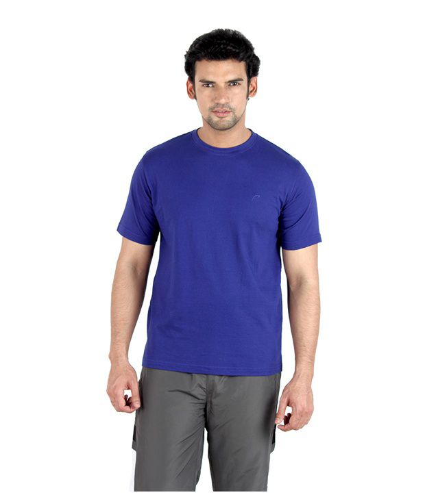 Proline Desirable Royal Blue Solid T-Shirt