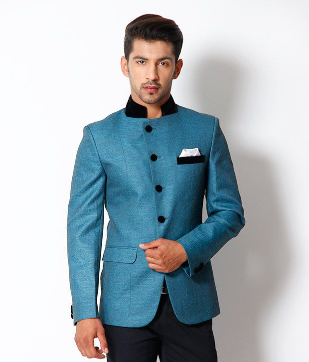 The Design Factory Turquoise Blazer