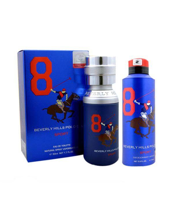 Beverly Hills Polo Club Combo of Perfume & Deodorant No 8 M...