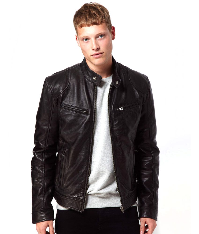 Rider Black Leather Biker Jacket