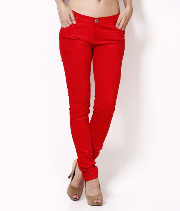 Fashion Cult Red Corduroy Trousers