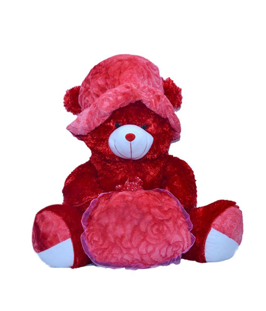 Joey Toys Red Colour Teddy bear stuffed love soft toy for boyfriend,  girlfriend