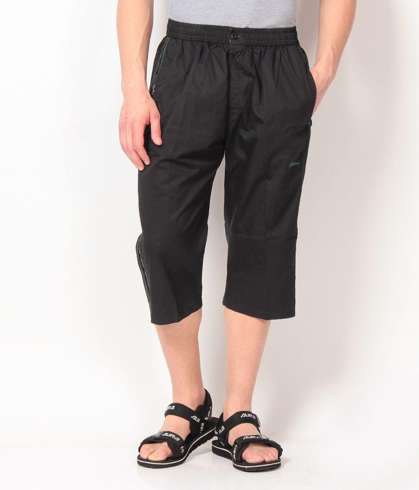 Okane Stylish Black 3/4th Capri